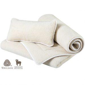 Woolmark Merino bárány gyapjú garnitúra göndörített